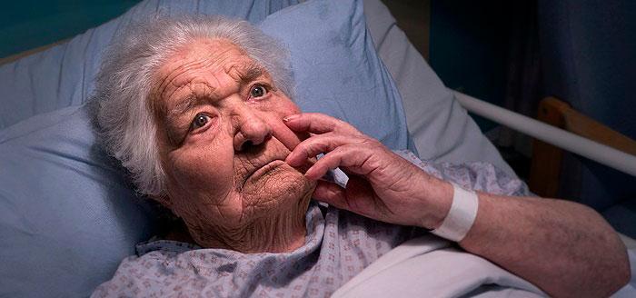 Старушка больная эпилепсией