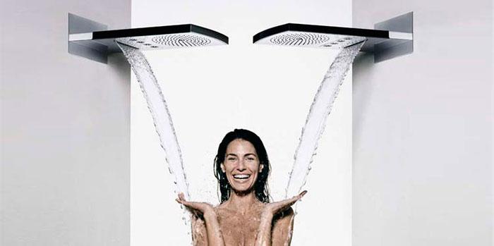 Каскадный душ закрытого типа