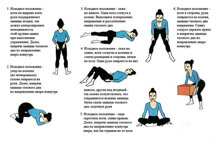Упражнения для тренировки мышц тазового дна
