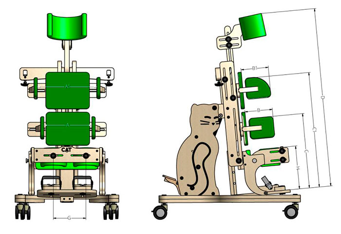 Схема вертикализатора для инвалидов Akced Med