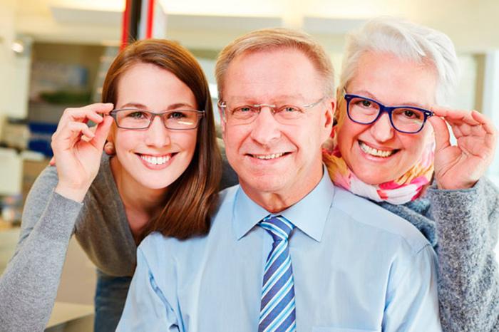 Очки для компенсации возрастной дальнозоркости