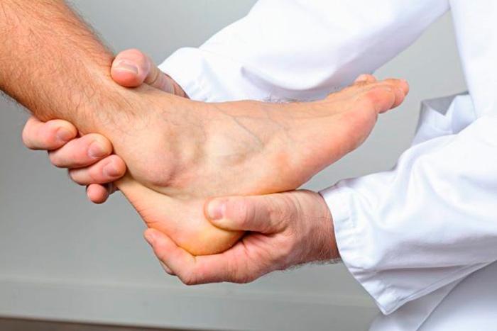 Диагностика бурсита голеностопа
