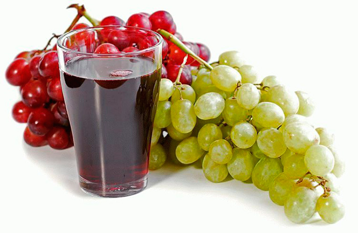 Воду лучше заменить виноградным соком