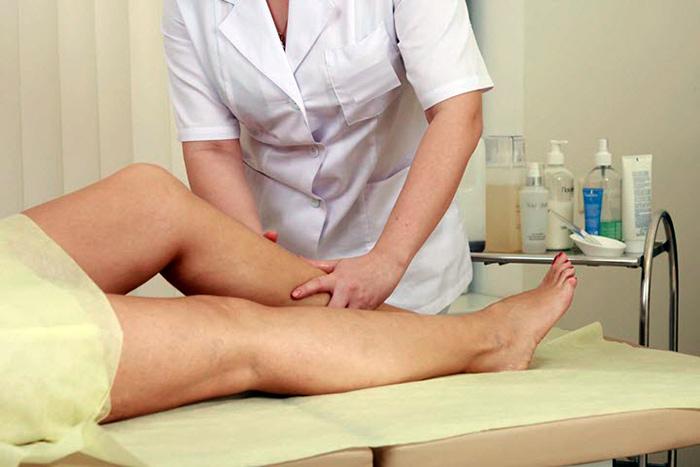 Проведение массажа при трофической язве
