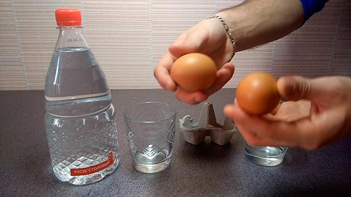 Уксус и яйцо для лечения гигромы
